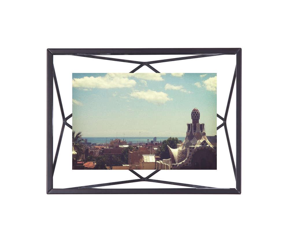 Bilderrahmen Prisma 10 x 15 Schwarz Matt 3D von Umbra | Heimkleid