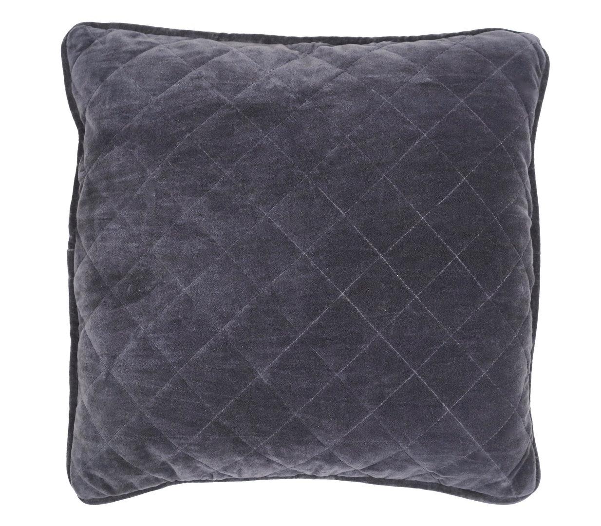 kissenh lle samt grau 50x50. Black Bedroom Furniture Sets. Home Design Ideas