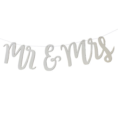 WIMPELKETTE BOHO 'MR-AND-MRS'