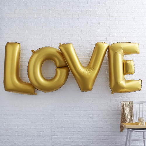 FOLIENBALLONS 'LOVE' GOLD