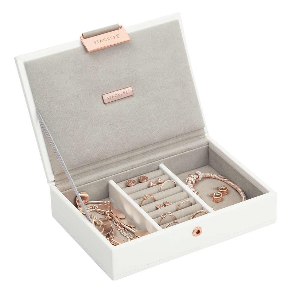 Stackers Mini Weiß rosé gold Limited Edition | Schmuckschatulle