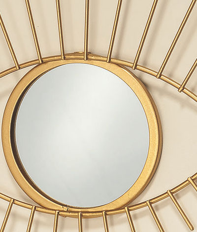 spiegel auge in gold 31cm online kaufen bei. Black Bedroom Furniture Sets. Home Design Ideas