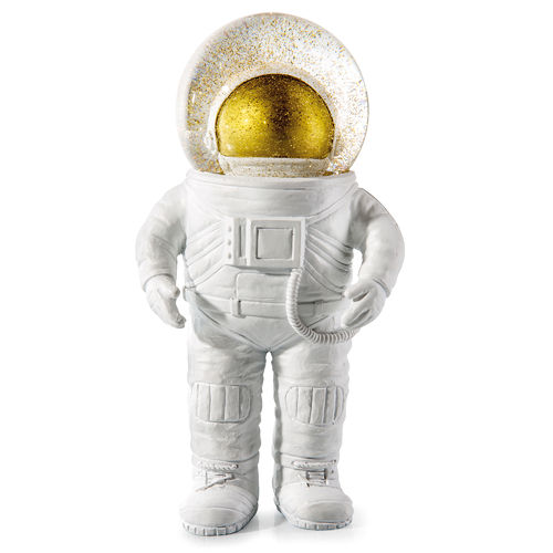 DEKO ASTRONAUT GOLD GLITZERKUGEL