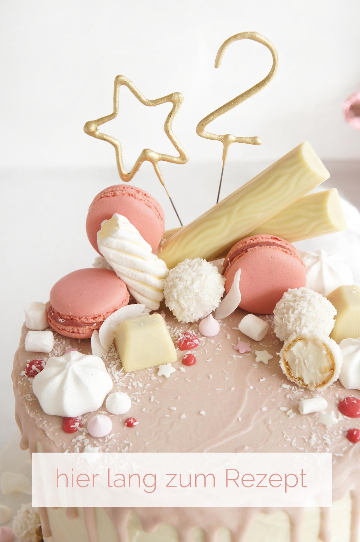 Candy Drip Geburtstagstorte Mit Rezept Von Madame Dessert