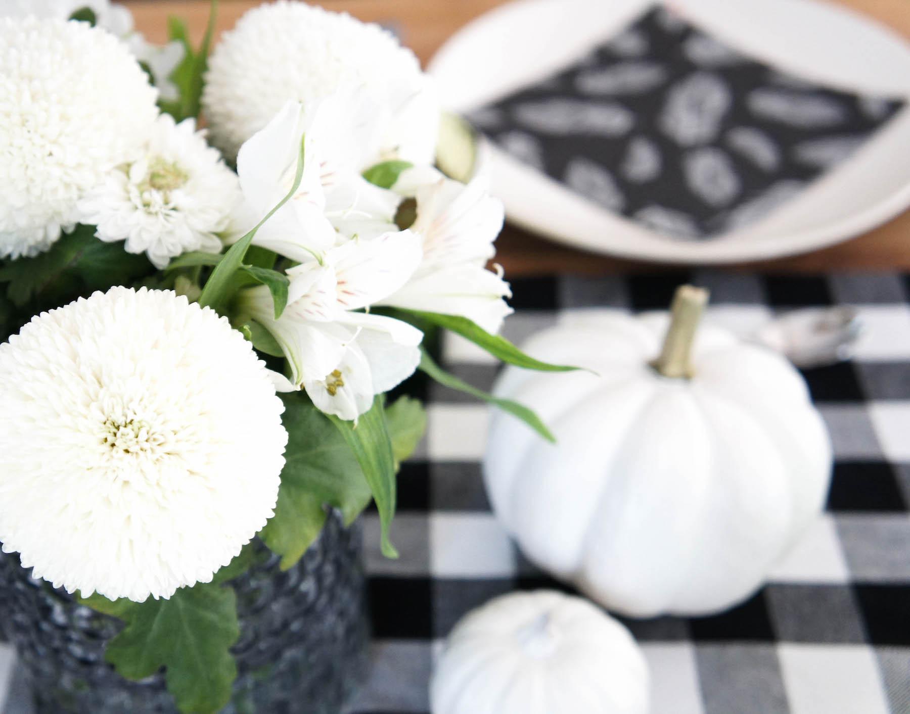 Herbst Tischdeko In Schwarz Weiss Mit Farbakzenten Heimkleid