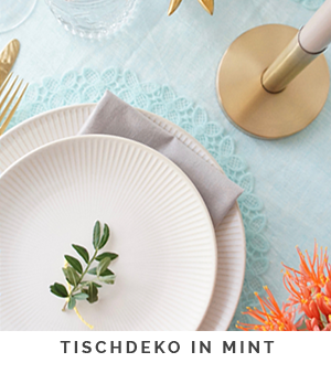 Tischdeko_Mint_Orange_Gold_Sommer_Party_Deko