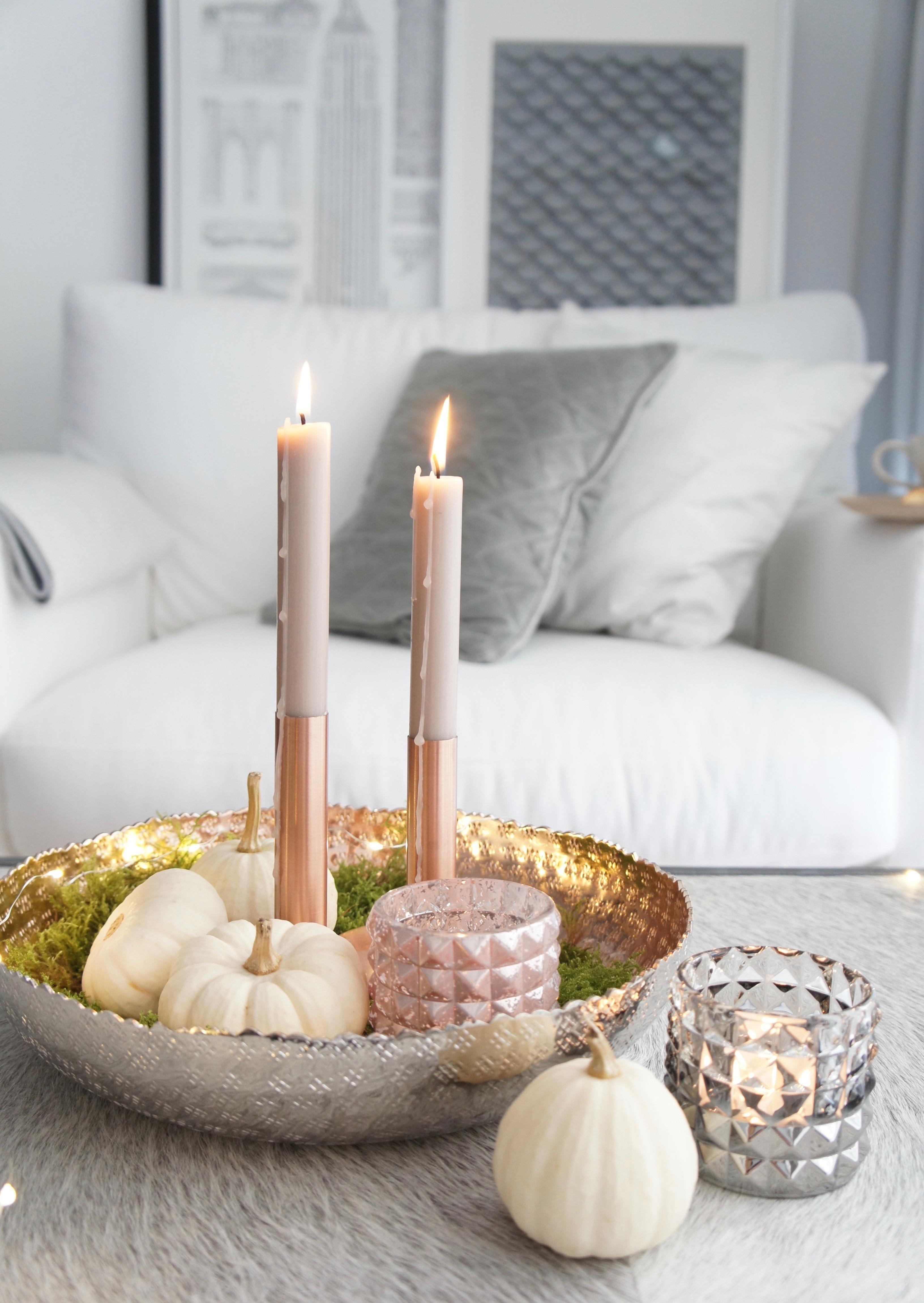 5 schritte zur stilvollen herbst deko mit kerzen - Herbstdeko kurbis ...