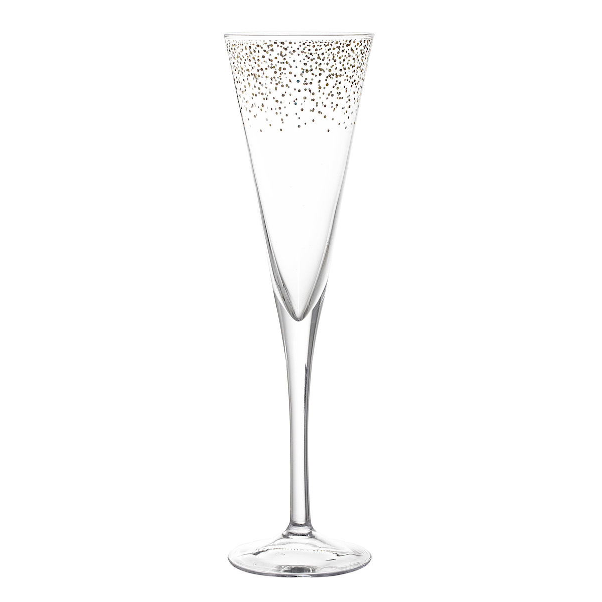 Champagnerglas_Sektglas_Gold_rand_Silber_Rand_Punkte_Bloomingville