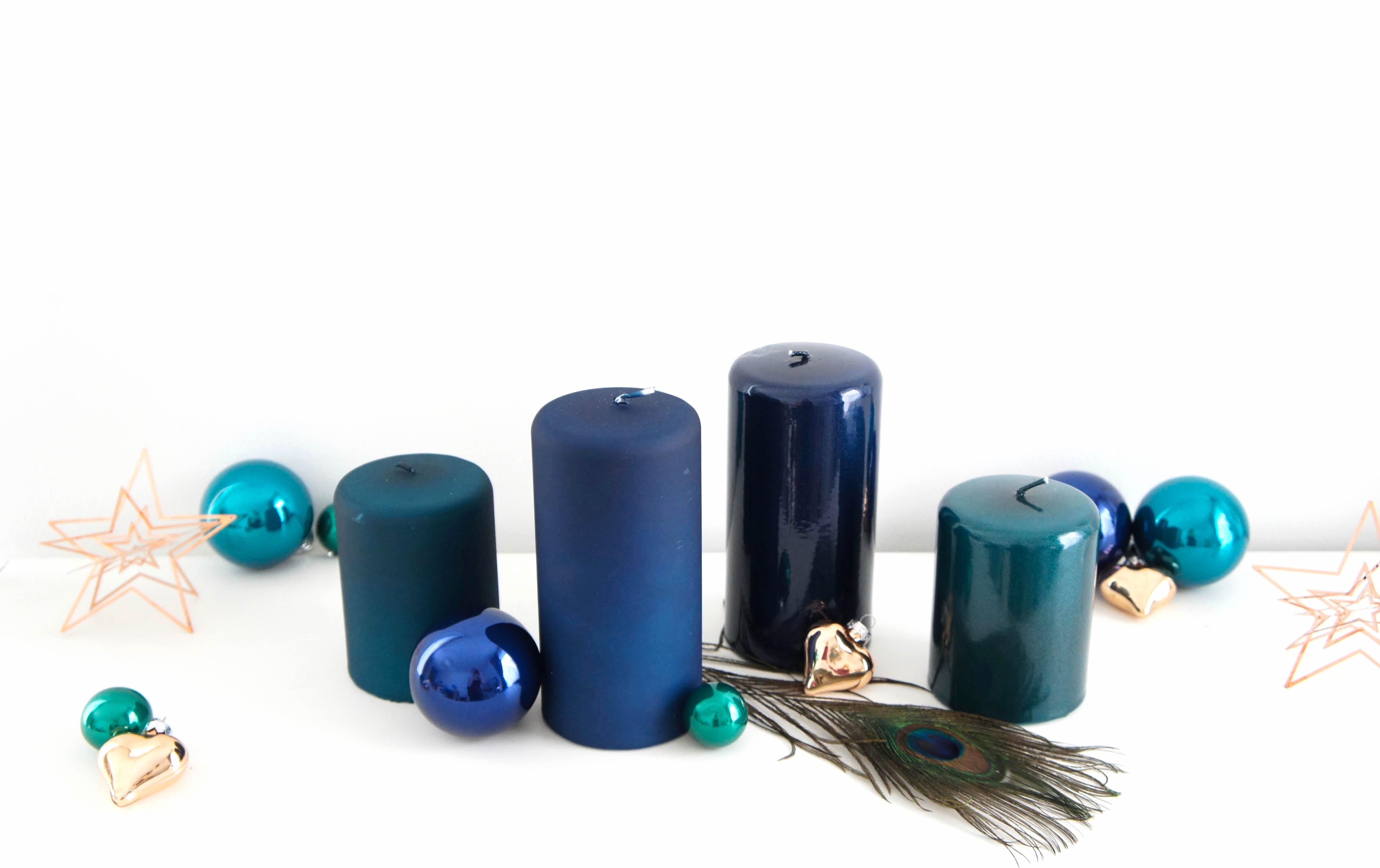 Deko f r adventskranz kaufen im online shop aus w rzburg - Weihnachtsdeko blau ...